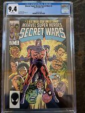 MARVEL SUPER HEROES SECRET WARS #2 CGC 9.4 WHITE PAGES!!