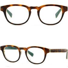 Thick Mens Womens Acetate Plastic Frame Keyhole Glasses Sunglasses Tortoiseshell