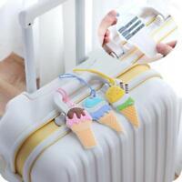 Tag Cover Creative ice cream Silica Gel Suitcase ID Address Travel Accessories W