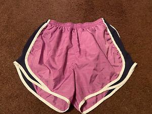 Juniors women's purple athletic gym fitness shorts size small Nike Dri-Fit GUC