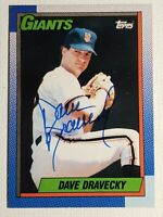1990 Topps Dave Dravecky Auto Autograph Card Signed Giants Padres #124