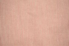 """Upholstery Drapery Cotton Ticking Coral Pinstripe Fabric 55""""W Decorative"""