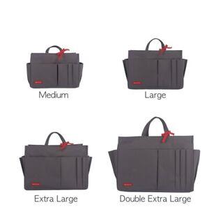 Women's Waterproof Sturdy Tidy Bag Liner Purse Insert Organiser M-XXL, Grey