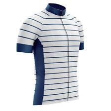 Men's Cycle Bike Jerseys Shirt Short Sleeve Cycling Apparel Shirt Striped Jersey