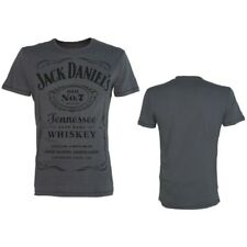 Official Jack Daniel's Classic Logo Grey Unisex T-Shirt