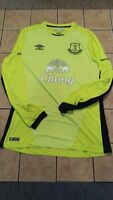 NWT Men's Umbro Everton Goalkeeper 16/17 Home Shirt Blank Jersey