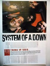 COUPURE DE PRESSE-CLIPPING :  SYSTEM OF A DOWN [8pages] 12/2005 Daron Malakian