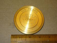 Crown Cork & Seal Baltimore 1892-1992 100 Years Brass Metal Paperweight Coaster