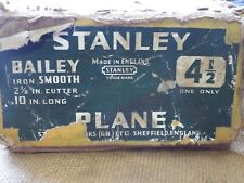 Vintage Stanley Bailey No 4 1/2 Smoothing Bench Plane Made in England