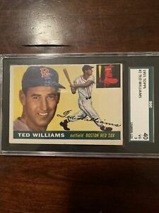 1955 TOPPS TED WILLIAMS # 2 SGC 3