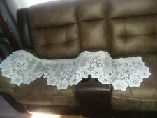 "Vintage Pair Light Pink JCPenney Valances Lace 17 X 58"" each"