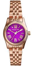 Michael Kors MK3273 Mini Lexington Rose Gold Tone Purple Dial Women's Watch