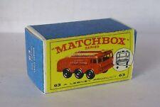 Repro box MATCHBOX 1:75 Nº 63 FIRE FIGHTING CRASH