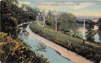 Fort Wayne Indiana 1911 Postcard Horse Shoe Bend TR37 RPO