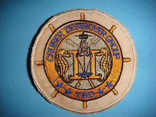 PATCH US NAVY CRUISER DESTROYER GROUP TWO CDG-2