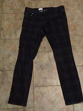 womens gap 1969 plaid dark wash alway skinny denim jeans size 29R 30