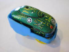 VINTAGE MINIATURE TIN ARMY TANK WIND UP HOPPER TOY MADE IN HONG KONG