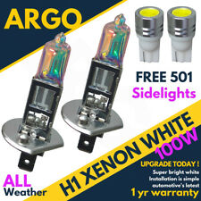 H1 + 501 100w Xenon Hid Ultra Super White Effect Head Lamps Light Bulbs Led 12v