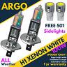 H1 + 501 100w Xenon Hid Ultra Super White Effect Head Lamps Light Bulbs Led 12v