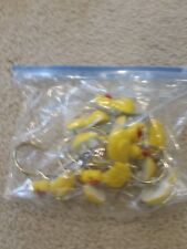 Lot Set Of 12 Yellow Floral Ducks Duck Shower Curtain Hooks Cute Children's Bath