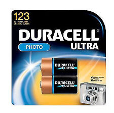 Duracell DL123B2 3V Ultra Lithium Battery - 2 Pack