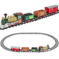 BCP Kids Electric Railway Train Track Toy Playset w/ Music, Lights