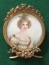 Exceptionnelle miniature cadre Louis XVI XIXe Antique mini painting bronze frame