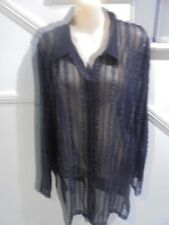 MIRRORS WOMAN SIZE 18 Gorgeous Black Lace Mesh BLOUSE JACKET