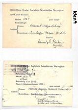 KK119 1931 1928 USA Cambridge Mass HARVARD UNIVERSITY Library Postcards{2}Norway