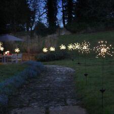Starburst Solar Garden Lights - Outdoor Solar Stake Light - LED Warm White