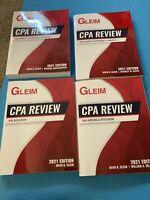 2021 Brand New Gleim CPA Review Textbooks (FAR, REG, AUD, BEC) - Books Only.