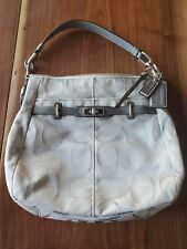 Coach Signature Tan Purse With Protective Dust Cover #17834