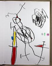 JOAN MIRO - Passaggio de L´ Egyptienne (1985). 4 Acqueforti Impronta autografato