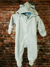 Baby Snow Suit One Piece Old Navy 3-6 Months Gray Unisex in EUC       6C