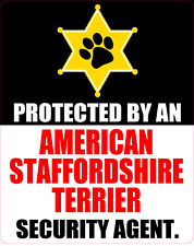 Protected By American Staffordshire Terrier Sticker