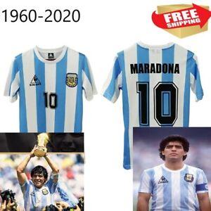 Argentina Men's Retro Soccer Jersey, Mexico1986, Camisa Maradona #10 Shirt