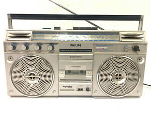 Philips D8323 Stereo 4-Band Radio Cassette Recorder Boombox - Rare, Netherlands