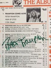 PETER FRAMPTON autograph PSA/DNA- COA -RECORD WORLD chart 9/11/76 #1 ALBUM CHART