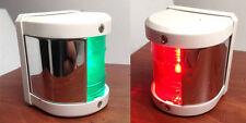 MARINE BOAT GREEN STARBOARD AND RED PORT SIDE LED NAVIGATION LIGHT - WHITE