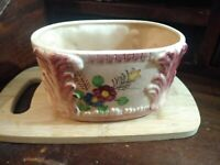 Vintage Made In Japan Ceramic Hand-painted Planter
