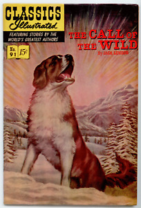 Classics Illustrated  #91 HRN 167 - The Call  of the Wild  VF+ 8.5