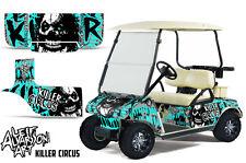 Club Car Golf Cart Wrap Graphics Vinyl Sticker Decal Kit 1983-2014 CIRCUS MINT