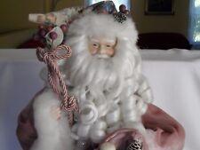 Holiday Workshop Vintage Santa Claus Figure, Old Fashioned Porcelain, Brocade 18