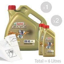 Car Engine Oil Service Kit / Pack 6 LITRES Castrol EDGE 0W-40 0W40 FST A3/B4 6L
