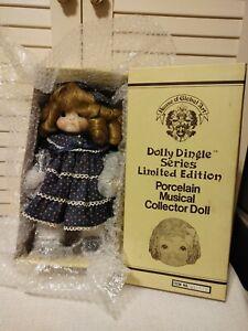 Vtg DOLLY DINGLE Musical Porcelain Doll (1983) LE 745/5000 House of Global Art