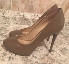 Brian Atwood Fredrique Patent leather pewter Pumps -7