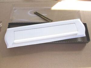 Briefeinwurf Messing edel Neu Briefschlitz Briefklappe massiv Stil weiß
