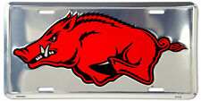 Brand New! Arkansas Razorback Dlx  License Plate   cr