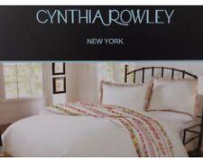 3 pc Cynthia Rowley White & Multi Floral Queen Duvet Cover & Shams Set