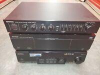 KENWOOD BASIC POWER M1A AMPLIFIER BASIC c1 preamplifier vr-517 receiver lot